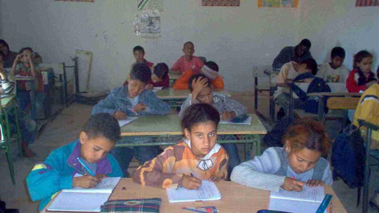 Niños saharauis en Colegio