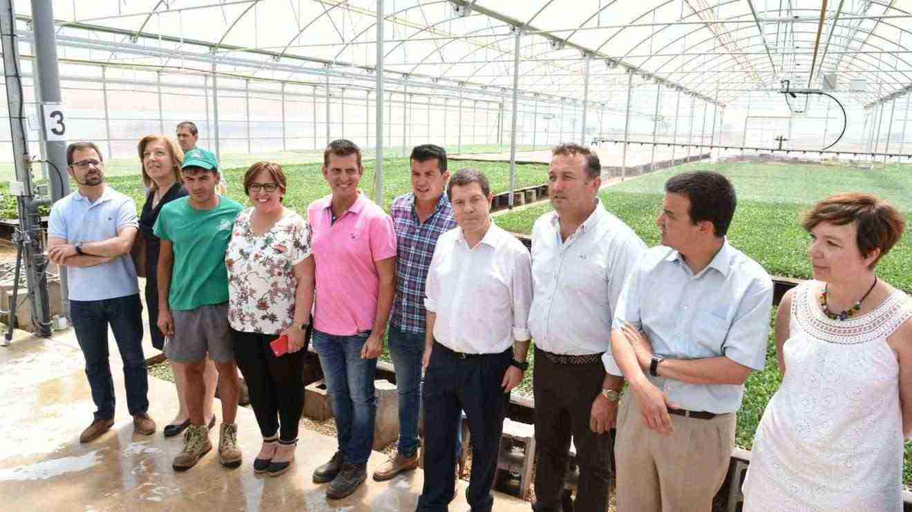 El presidente García-Page visita a la explotación agraria 'SAT Campos'