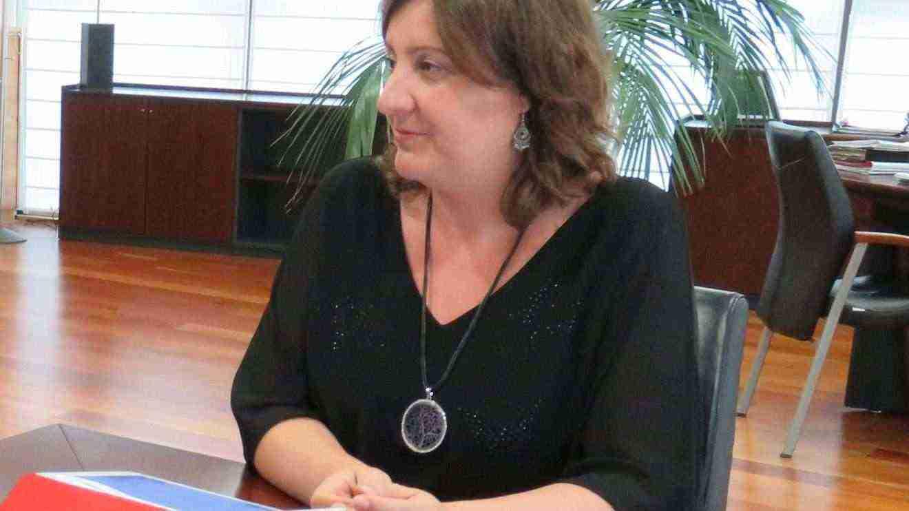 La consejera de Economía, Empresas y Empleo, Patricia Franco, en el IMEX.