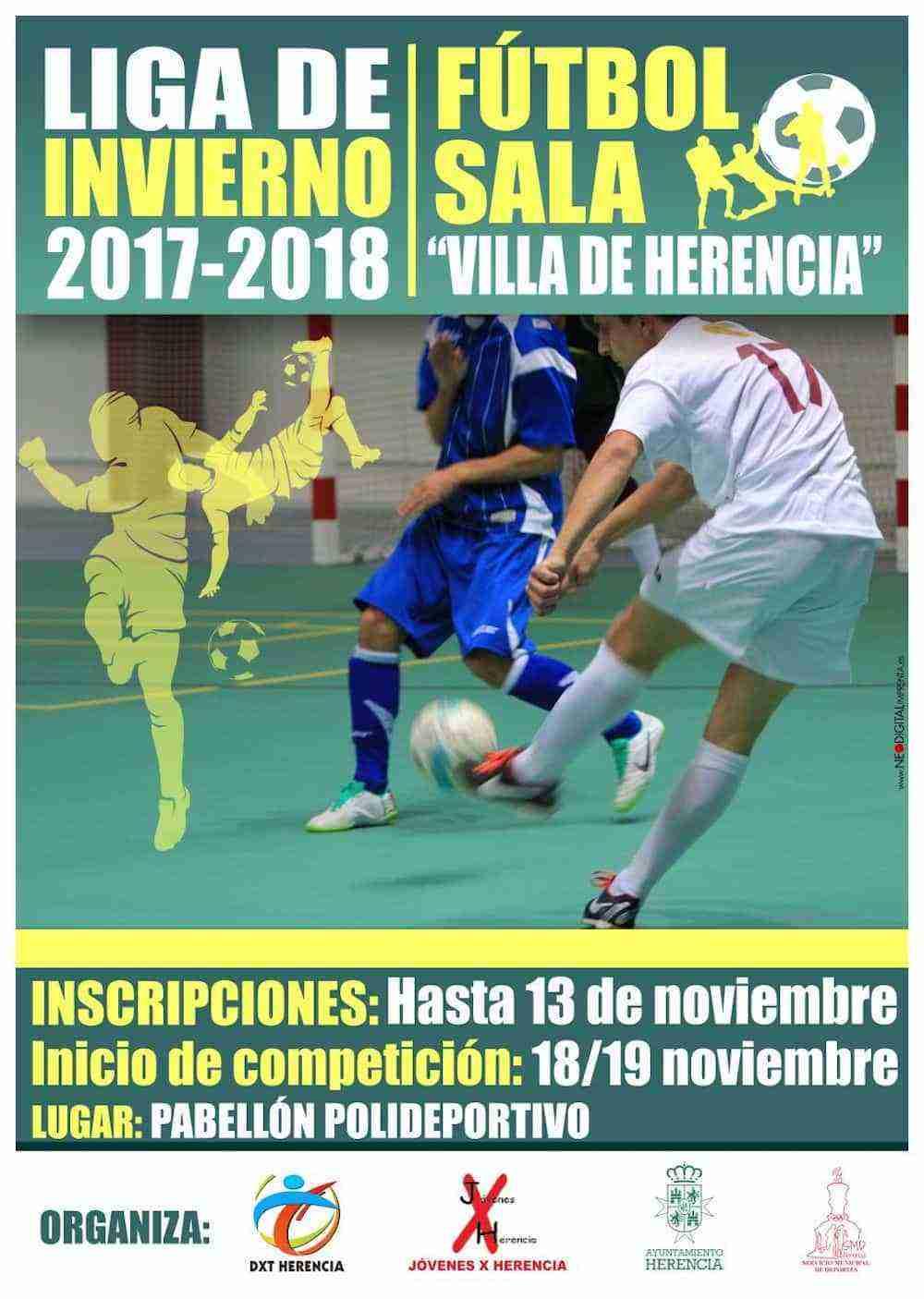 Inscripciones abiertas liga de invierno 2017 2018 f tbol for Federacion de futbol sala