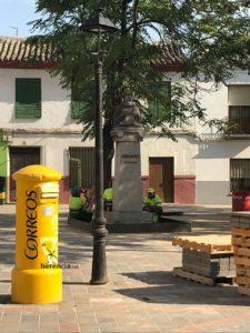 obras avenida y plaza cervantes en herencia fotos dcarrero herencia net 13 225x300 - La nueva Plaza Cervantes de Herencia pronto finalizará sus obras