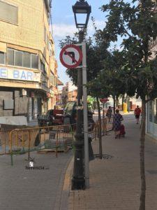 obras avenida y plaza cervantes en herencia fotos dcarrero herencia net 4 225x300 - La nueva Plaza Cervantes de Herencia pronto finalizará sus obras