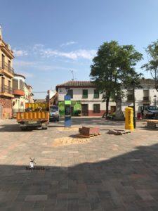 obras avenida y plaza cervantes en herencia fotos dcarrero herencia net 27 225x300 - La nueva Plaza Cervantes de Herencia pronto finalizará sus obras