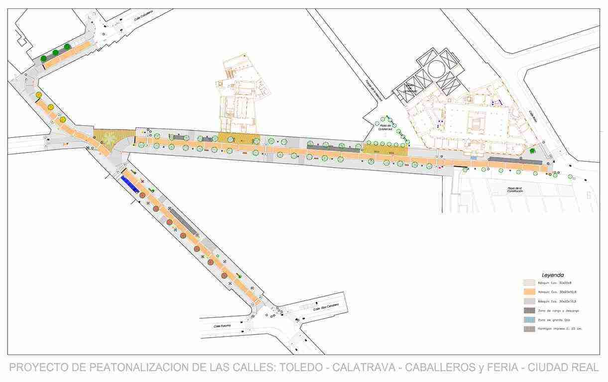 proyecto de peatonalización