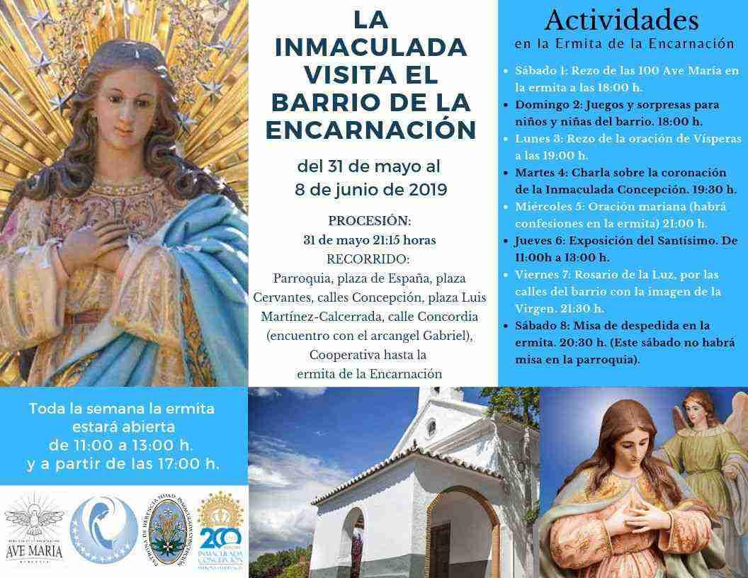 Inmaculada Encarnación - La imagen de la Inmaculada visita el barrio de la Encarnación