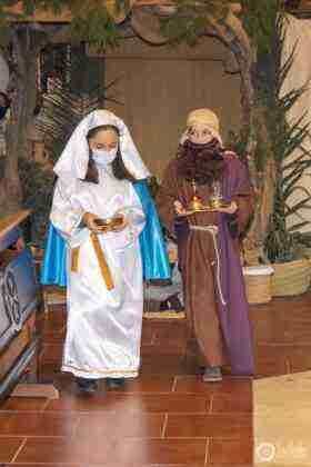Galería fotográfica del belén viviente y misa de vigilia de Navidad 45