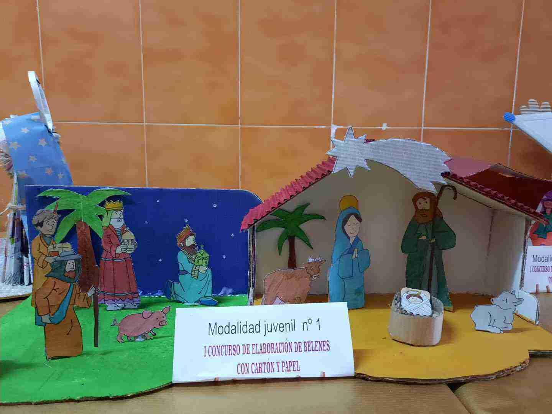 Celebrado el I Concurso de Belenes realizado con cartón y papel 31
