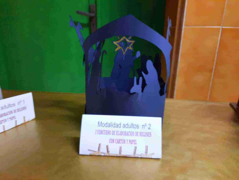 Celebrado el I Concurso de Belenes realizado con cartón y papel 20
