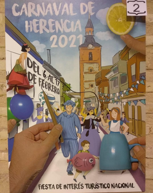 Conoce los 4 carteles del concurso para el Carnaval de Herencia 2021 6
