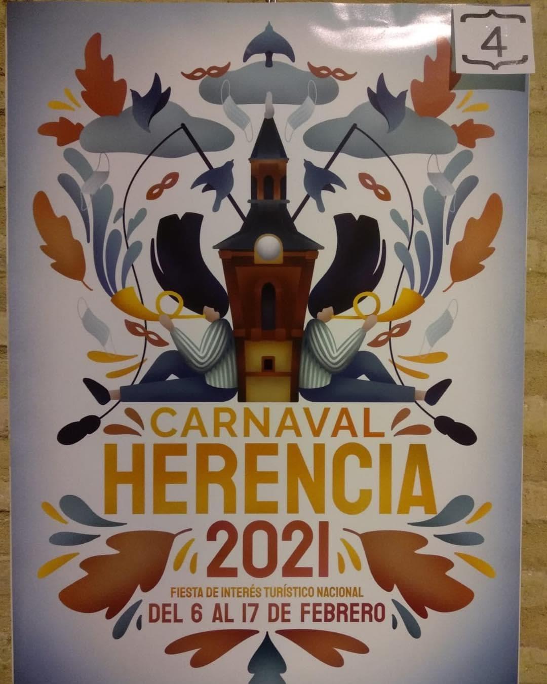 Conoce los 4 carteles del concurso para el Carnaval de Herencia 2021 8
