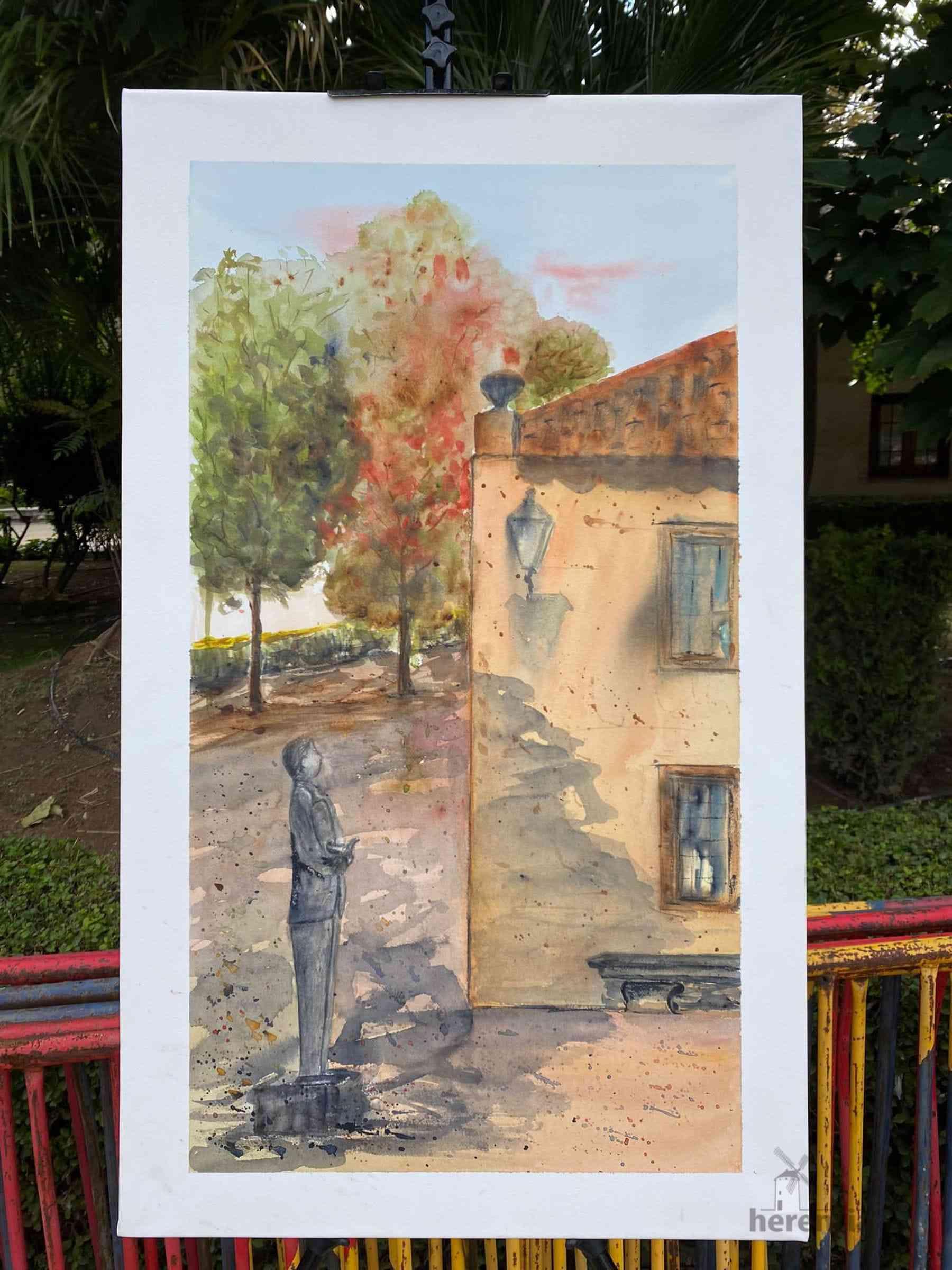 """Galería de cuadros del XIV Certamen Nacional de Pintura Rápida """"Villa de Herencia"""" 39"""