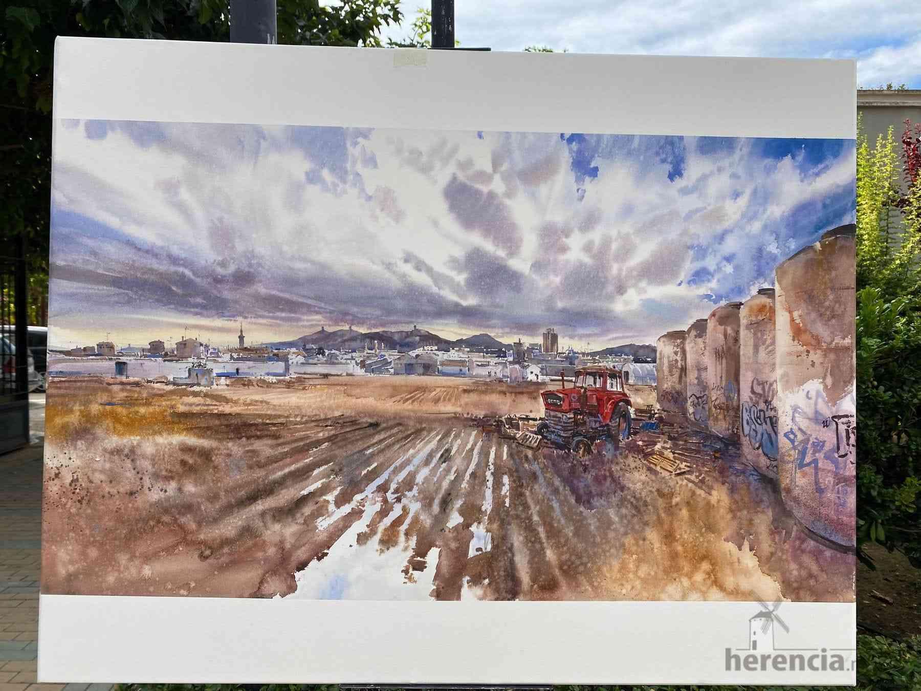 """Galería de cuadros del XIV Certamen Nacional de Pintura Rápida """"Villa de Herencia"""" 32"""