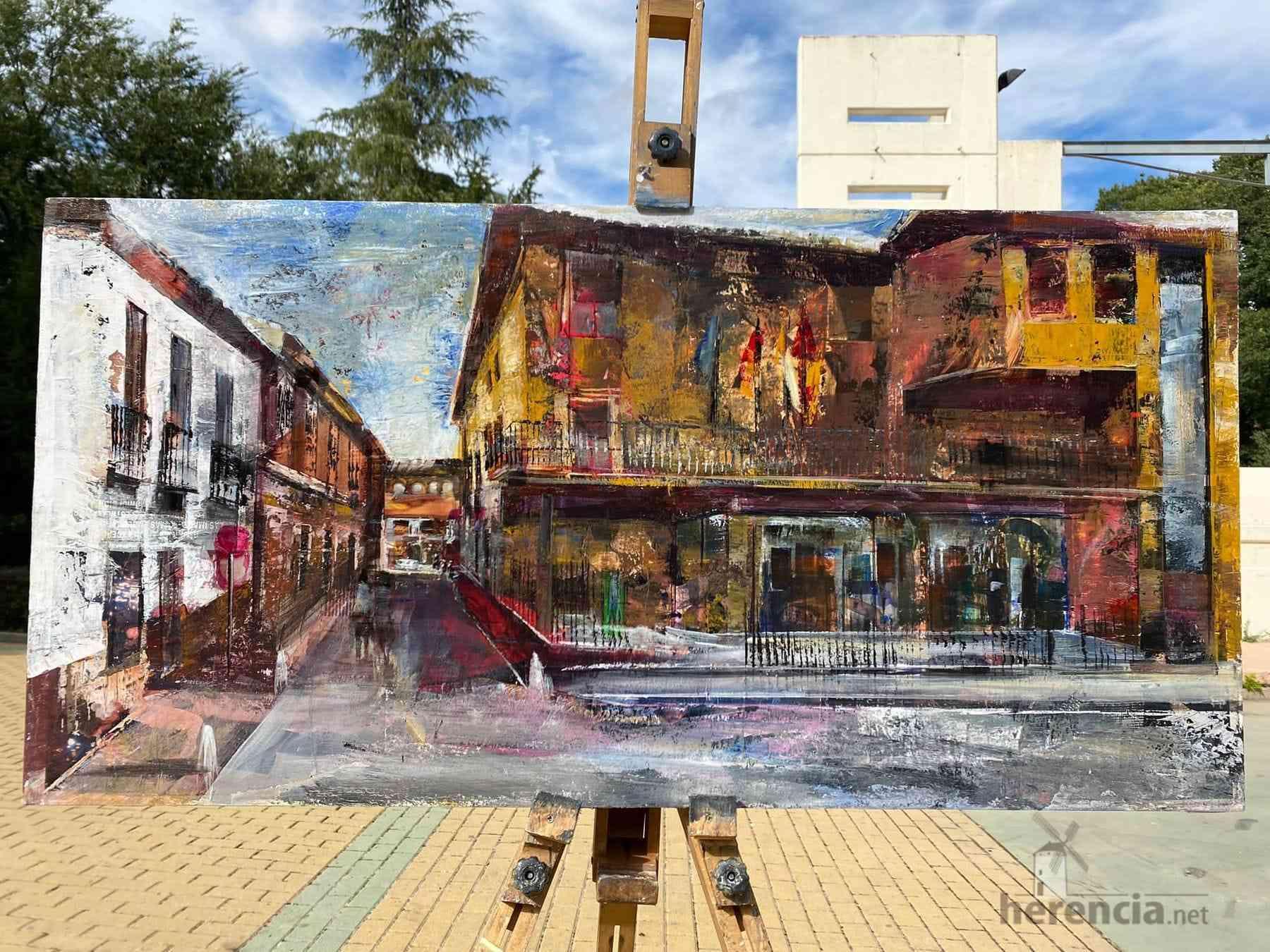 """Galería de cuadros del XIV Certamen Nacional de Pintura Rápida """"Villa de Herencia"""" 25"""