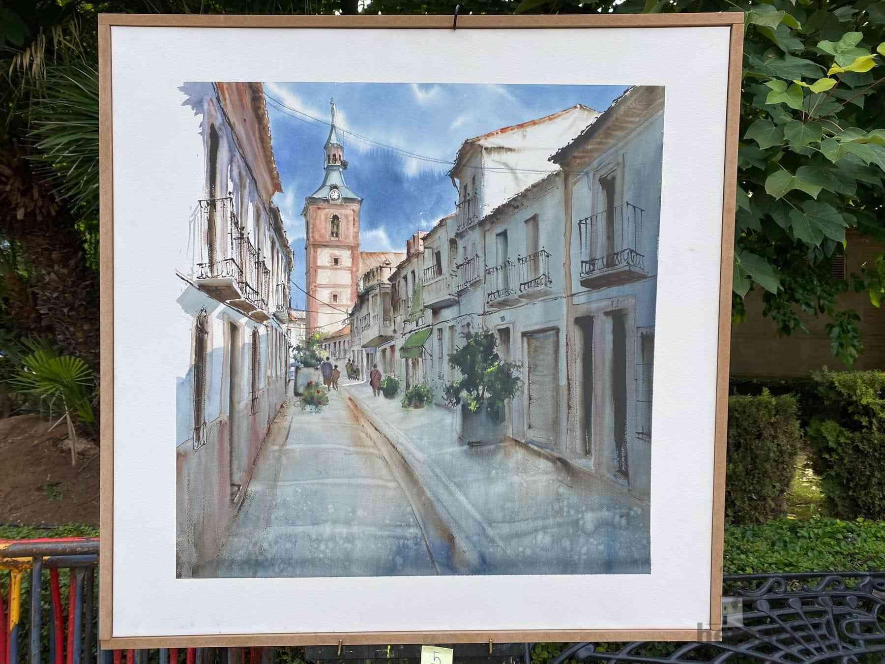 """Galería de cuadros del XIV Certamen Nacional de Pintura Rápida """"Villa de Herencia"""" 38"""