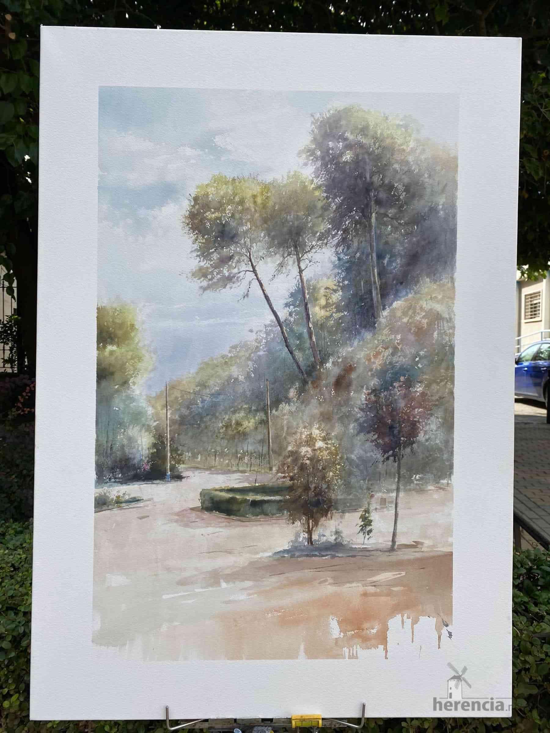 """Galería de cuadros del XIV Certamen Nacional de Pintura Rápida """"Villa de Herencia"""" 34"""