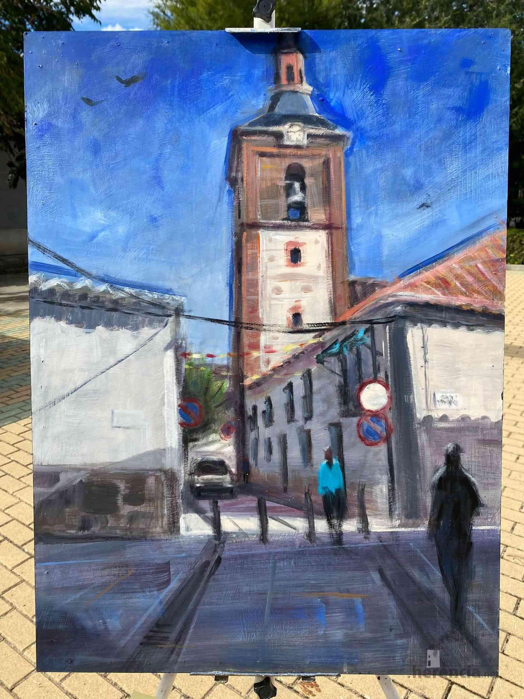 """Galería de cuadros del XIV Certamen Nacional de Pintura Rápida """"Villa de Herencia"""" 24"""