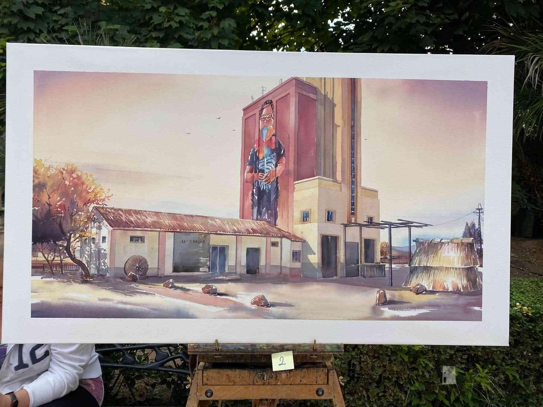 """Galería de cuadros del XIV Certamen Nacional de Pintura Rápida """"Villa de Herencia"""" 41"""
